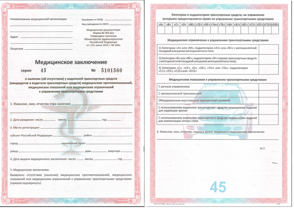 Стоимость мед справки на водительское удостоверение 2018г